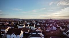 von oben -- über den Dächern